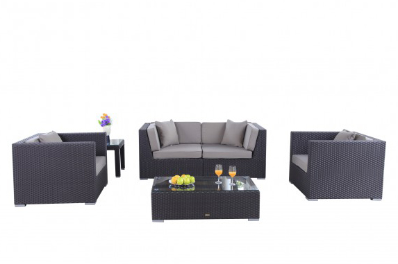 Rattan lounge braun  Rattan Lounge - Classic Garden Furniture in Poly-Rattan ...