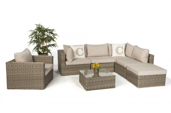 Rattan lounge  Rattan Lounge - Classic Garden Furniture in Poly-Rattan ...