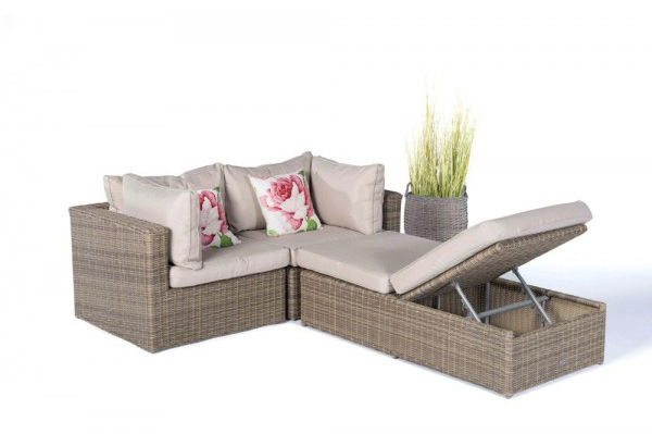 Lounge sofa rattan  Space-saving Rattan Lounge, Garden, Balcony, Patio, Wicker ...